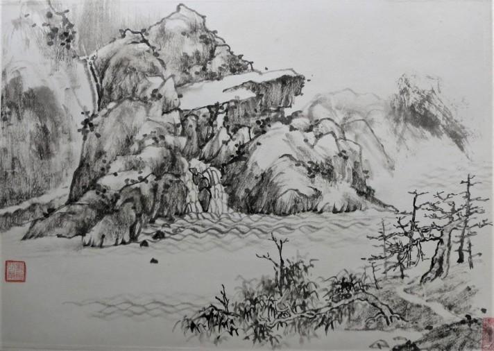 ink painting by friedrich zettl