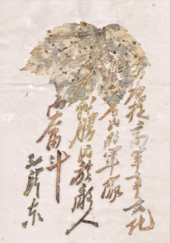 leaf and mao zedong calligraphy friedrich zettl