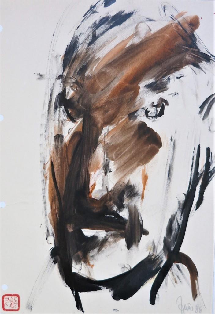 portrait finger painting